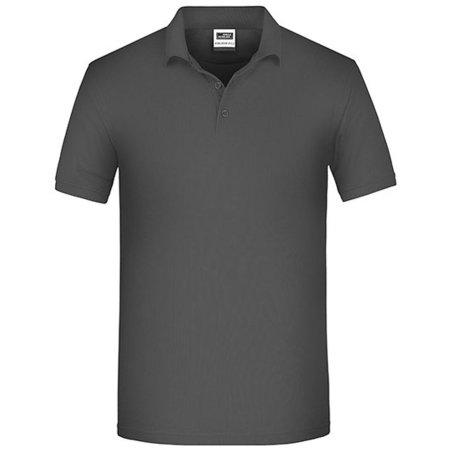 Men`s Bio Workwear Polo in Carbon von James+Nicholson (Artnum: JN874