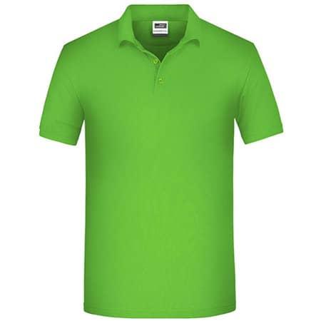 Men`s Bio Workwear Polo in Lime Green von James+Nicholson (Artnum: JN874