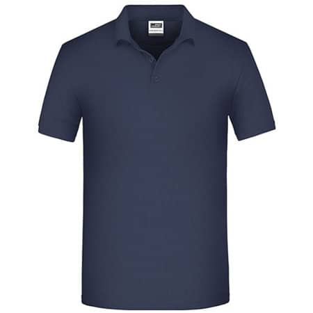 Men`s Bio Workwear Polo in Navy von James+Nicholson (Artnum: JN874