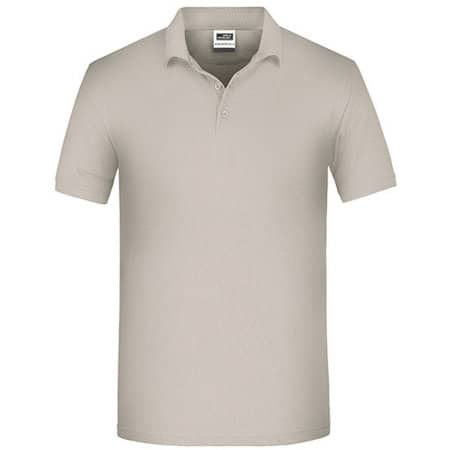 Men`s Bio Workwear Polo in Stone von James+Nicholson (Artnum: JN874