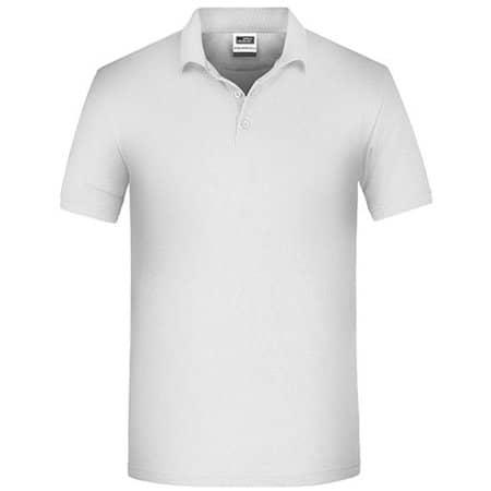 Men`s Bio Workwear Polo in White von James+Nicholson (Artnum: JN874