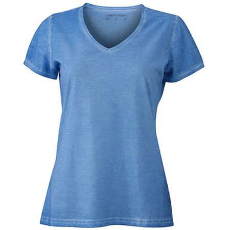 Ladies` Gipsy T-Shirt in Horizon Blue von James+Nicholson (Artnum: JN975