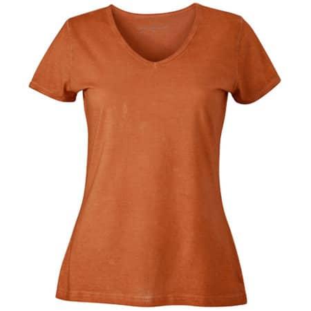 Ladies` Gipsy T-Shirt in Terra von James+Nicholson (Artnum: JN975