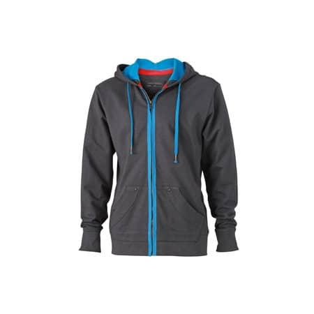 Men`s Urban Hooded Sweat Jacket von James+Nicholson (Artnum: JN982
