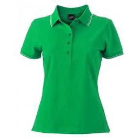 Ladies` Polo JN985 in Fern Green|White von James+Nicholson (Artnum: JN985
