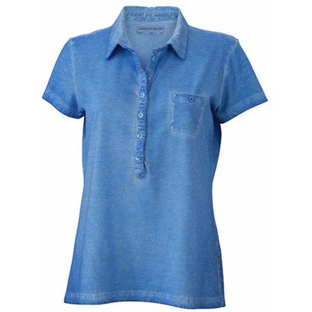 Ladies` Gipsy Polo in Horizon Blue von James+Nicholson (Artnum: JN987