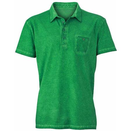 Men`s Gipsy Polo in Fern Green von James+Nicholson (Artnum: JN988