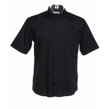 Men`s Bar Shirt Mandarin Collar Short Sleeve in Black von Bargear (Artnum: K122