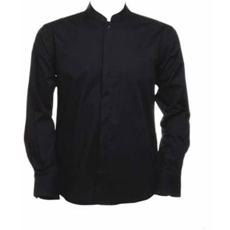 Men`s Bar Shirt Mandarin Collar Long Sleeve in Black von Bargear (Artnum: K123