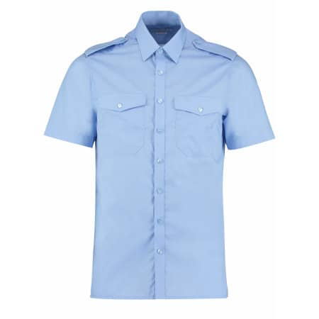 Men`s Pilot Shirt Short Sleeve von Kustom Kit (Artnum: K133