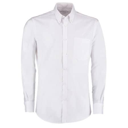 Slim Fit Workwear Oxford Shirt Long Sleeve von Kustom Kit (Artnum: K184