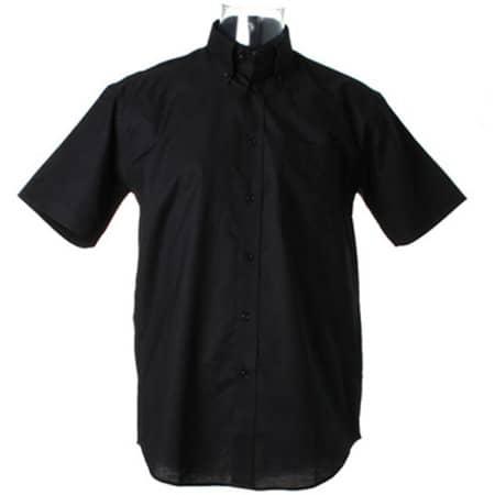 Men`s Workwear Oxford Shirt Short Sleeve in Black von Kustom Kit (Artnum: K350