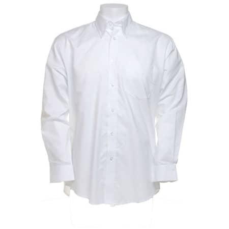 Men`s Workwear Oxford Shirt Long Sleeve in White von Kustom Kit (Artnum: K351