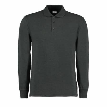 Men`s Piqué Polo Shirt Long Sleeve von Kustom Kit (Artnum: K430