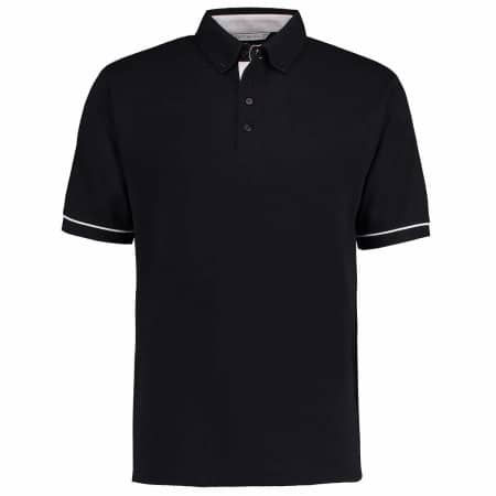 Button Down Collar Contrast Polo Shirt von Kustom Kit (Artnum: K449