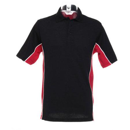 Track Polo in Black Red White von Gamegear (Artnum: K475