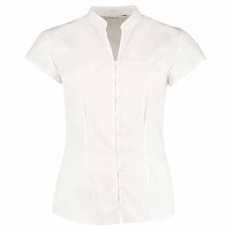 Poplin Contintental Blouse Mandarin Collar Cap Sleeve von Kustom Kit (Artnum: K727