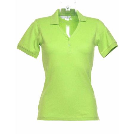 Sophia Comfortec® V Neck Polo Shirt in Lime von Kustom Kit (Artnum: K732