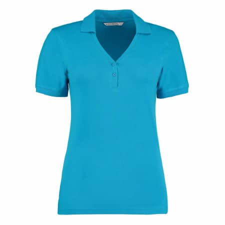Sophia Comfortec® V Neck Polo Shirt von Kustom Kit (Artnum: K732