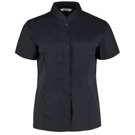 Women`s Bar Shirt Mandarin Collar Short Sleeve von Bargear (Artnum: K736