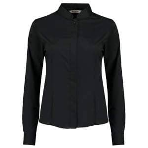 Women`s Bar Shirt Mandarin Collar Long Sleeve