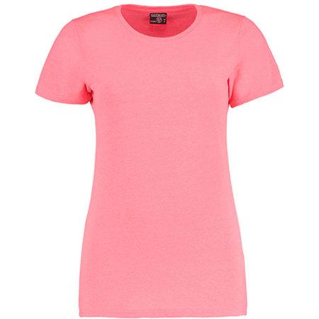 Superwash® 60° T Shirt Fashion Fit in Coral Marl von Kustom Kit (Artnum: K754
