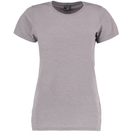 Superwash® 60° T Shirt Fashion Fit in Light Grey Marl von Kustom Kit (Artnum: K754