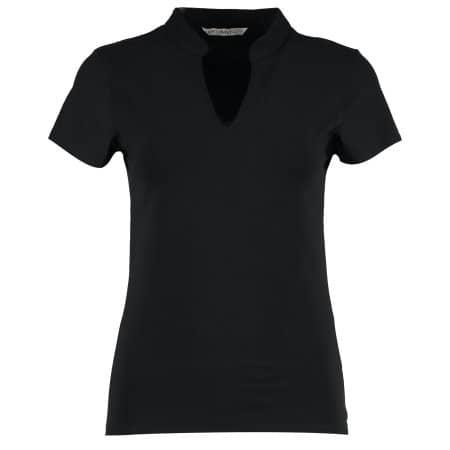 Corporate Top V Neck Mandarin Collar von Kustom Kit (Artnum: K770