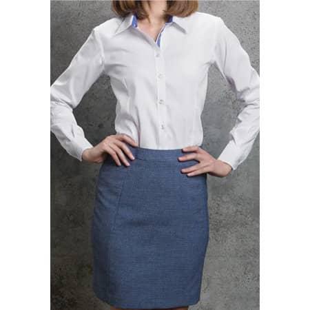 Contrast Premium Oxford Shirt Long Sleev von Kustom Kit (Artnum: K790