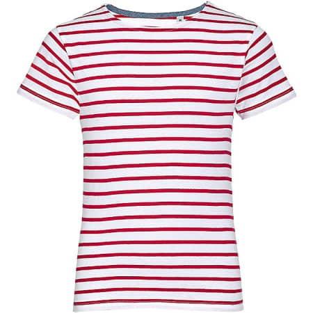Kids` Round Neck Striped T-Shirt Miles von SOL´S (Artnum: L01400