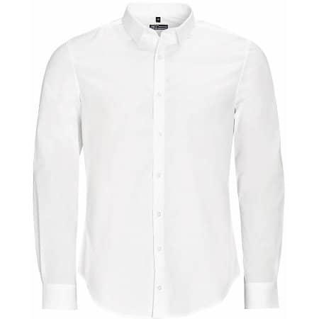 Men`s Long Sleeve Stretch Shirt Blake in White von SOL´S (Artnum: L01426