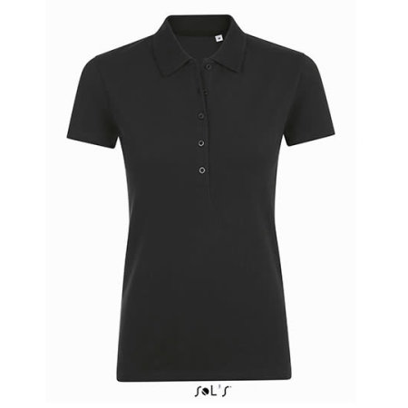 Phoenix Women Polo in Black von SOL´S (Artnum: L01709