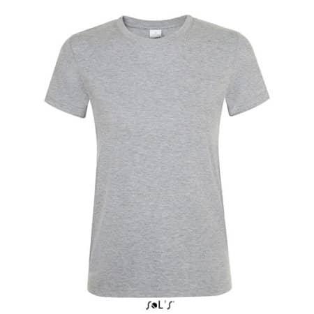 Regent Women T-Shirt in Grey Melange von SOL´S (Artnum: L01825