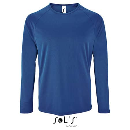 Men`s Long-Sleeve Sports T-Shirt Sporty von SOL´S (Artnum: L02071