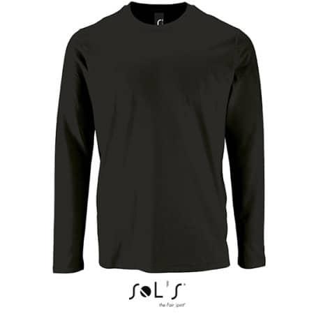 Men`s Long-Sleeve T-Shirt Imperial in Deep Black von SOL´S (Artnum: L02074