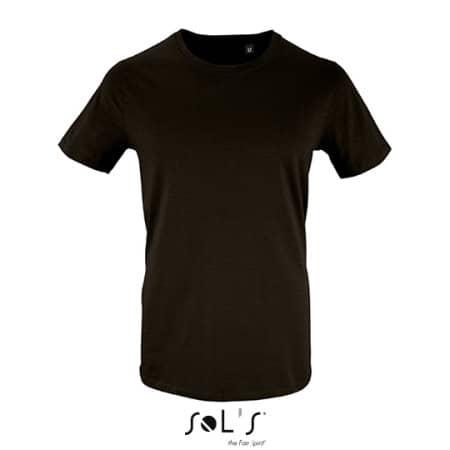 Men`s Short Sleeve T-Shirt Milo in Deep Black von SOL´S (Artnum: L02076