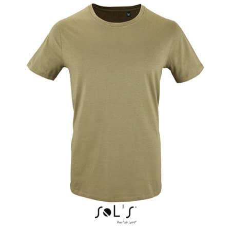 Men`s Short Sleeve T-Shirt Milo in Khaki von SOL´S (Artnum: L02076
