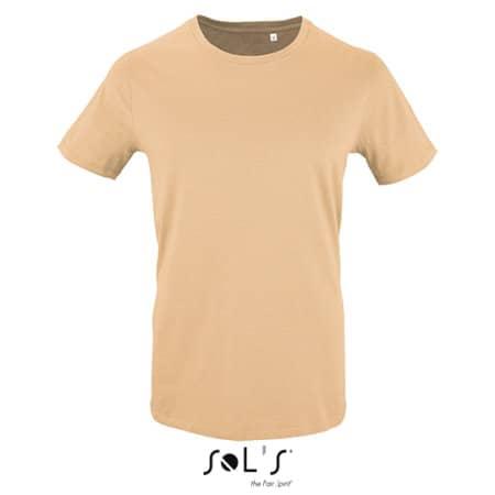 Men`s Short Sleeve T-Shirt Milo in Sand von SOL´S (Artnum: L02076