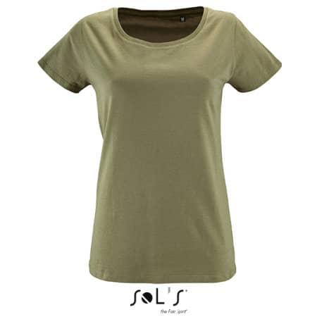 Women`s Short Sleeved T-Shirt Milo in Khaki von SOL´S (Artnum: L02077