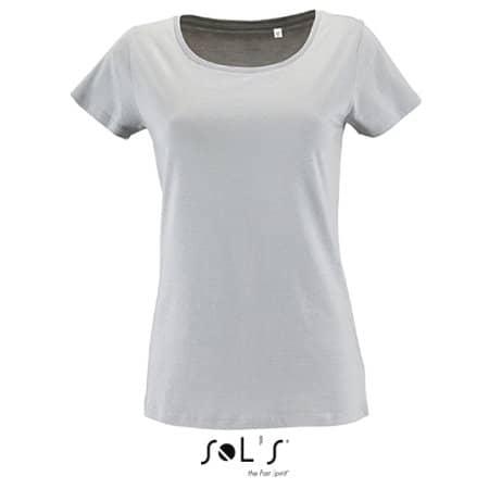 Women`s Short Sleeved T-Shirt Milo in Pure Grey von SOL´S (Artnum: L02077