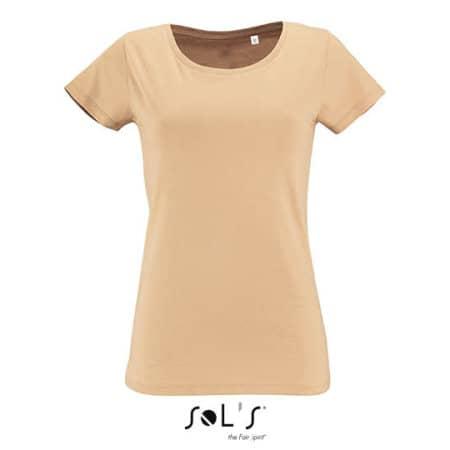 Women`s Short Sleeved T-Shirt Milo in Sand von SOL´S (Artnum: L02077