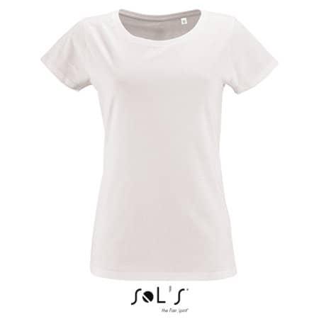 Women`s Short Sleeved T-Shirt Milo in White von SOL´S (Artnum: L02077