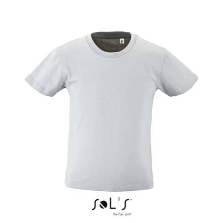 Kids` Round Neck Short-Sleeve T-Shirt Milo in Pure Grey von SOL´S (Artnum: L02078