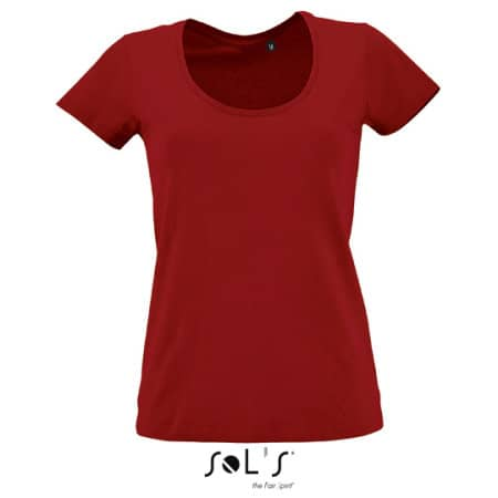 Women`s Low-Cut Round Neck T-Shirt Metropolitan von SOL´S (Artnum: L02079