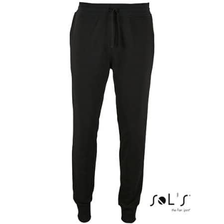 Men`s Slim Fit Jogging Pants Jake in Black von SOL´S (Artnum: L02084