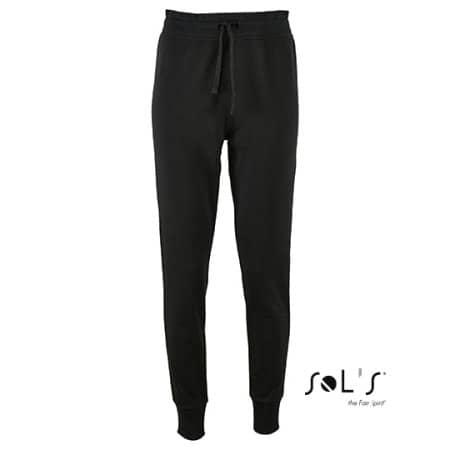 Women`s Slim Fit Jogging Pants Jake in Black von SOL´S (Artnum: L02085