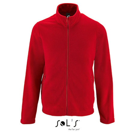 Men`s Plain Fleece Jacket Norman in Red von SOL´S (Artnum: L02093
