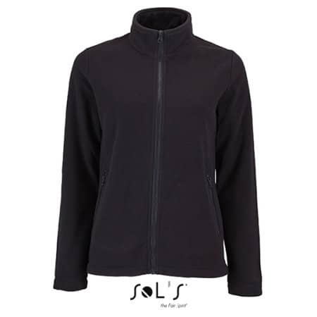 Women`s Plain Fleece Jacket Norman in Black von SOL´S (Artnum: L02094