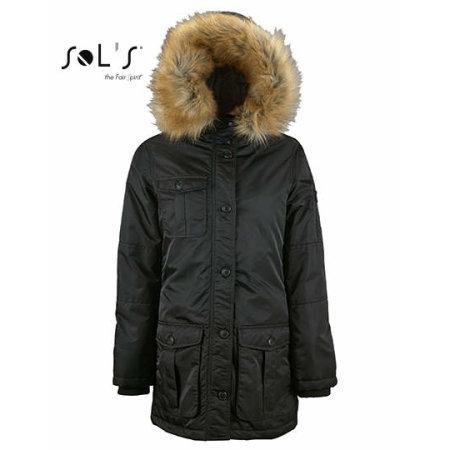 Women`s Warm And Waterproof Jacket Ryan in Black von SOL´S (Artnum: L02107