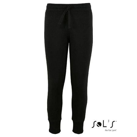 Kids` Slim Fit Jogging Pants Jake in Black von SOL´S (Artnum: L02121